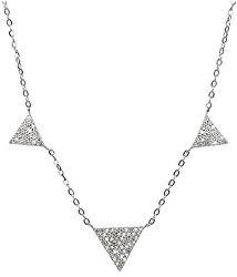 Strieborný náhrdelník s kryštálmi SNJ10