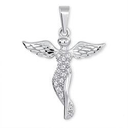 Stříbrný přívěsek Anděl s krystaly 446 001 00379 04