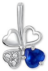 Strieborný prívesok štvorlístok 446 001 00349 04 - modrý
