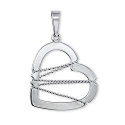 Stříbrný přívěsek Srdce s drátkem 441 001 02063 04