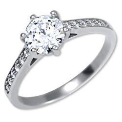 Stříbrný zásnubní prsten 426 001 00536 04
