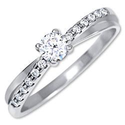 Stříbrný zásnubní prsten 426 001 00541 04