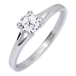 Stříbrný zásnubní prsten s krystalem 426 001 00508 04