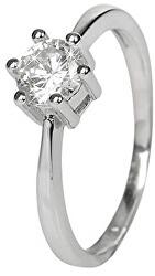 Ezüst eljegyzési gyűrű kristállyal SRJ35
