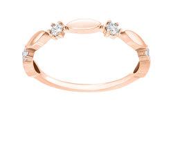 Csillogó bronz gyűrű cirkónium kövekkel GR048R