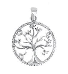 Trblietavý strieborný prívesok Strom života PENT014
