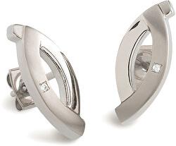 Elegantné titánové náušnice s diamantmi 0591-03