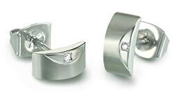 Elegantní titanové náušnice s diamanty 05007-02