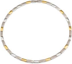 Nadčasový bicolor náhrdelník z titanu 08043-02