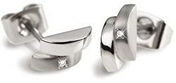 Moderné titánové náušnice s diamantom 0552-02