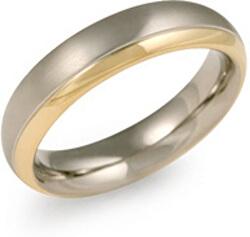 Pozlacený titanový snubní prsten 0130-08