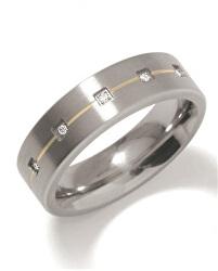 Snubní titanový prsten s diamanty 0101-19