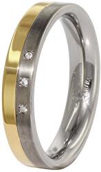 Snubní titanový prsten s diamanty 0129-04