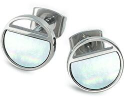 Titanové náušnice s perletí 05034-01