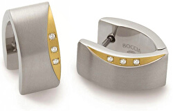 Titanové náušnice s pravými diamanty 05002-04