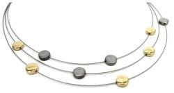 Titanový bicolor náhrdelník 0852-02