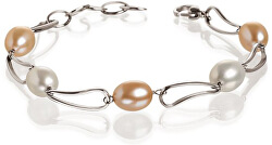 Titanový náramek s perlami 0382-01