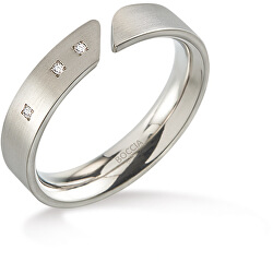 Titanový prsten s diamanty 0140-02