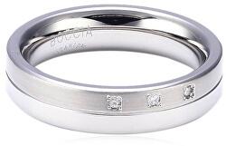 Titanový snubní prsten s diamanty 0129-03