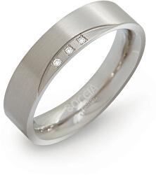 Titanový snubní prsten s diamanty 0138-02