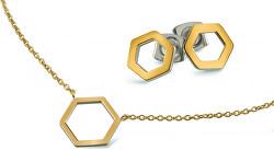 Zvýhodněná pozlacená titanová sada (náhrdelník, náušnice)