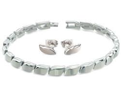 Zvýhodněná sada luxusních titanových šperků (náušnice, náramek)