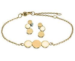 Zvýhodněná sada pozlacených titanových šperků (náušnice, náramek)