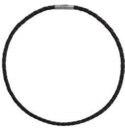Kožený propletený náhrdelník 0858-01
