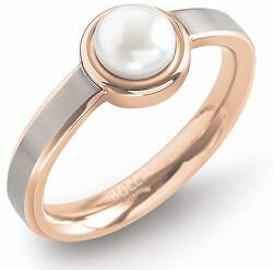 Titanový prsten s perlou 0137-02