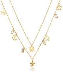 Dvojitý pozlátený náhrdelník s príveskami Chant BAH04