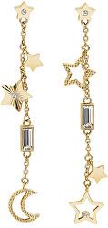 Hvězdičkové pozlacené náušnice s krystaly Chant BAH22