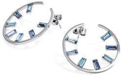 Kerek fülbevalók kristályokkal Symphonia BYM50