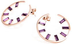 Kruhové náušnice s krystaly Symphonia BYM51