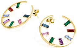 Kruhové náušnice s krystaly Symphonia BYM52
