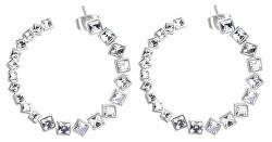 Kruhové náušnice s krystaly Symphonia BYM73