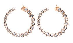 Kruhové náušnice s krystaly Symphonia BYM74