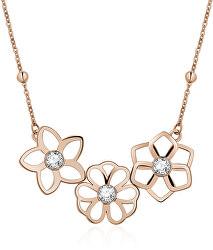 Oceľový náhrdelník Ikebana BKE06