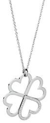 Oceľový náhrdelník so štvorlístkom C-lover BOV01 (retiazka, prívesok)