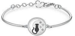 Oceľový náramok Cat Chakra BHK253
