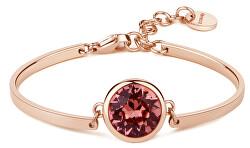Oceľový náramok Pink Crystal Chakra BHK74