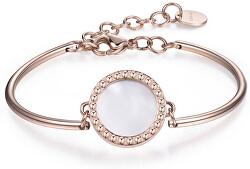 Oceľový náramok s perleťou Chakra BHK103