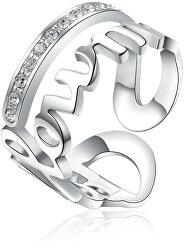 Oceľový prsteň Follow Me Script BRP33