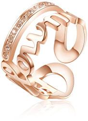 Ocelový prsten Follow Me Script BRP34