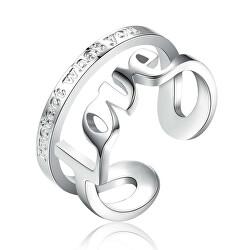Ocelový prsten Love Script BRP31