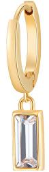 Pozlacená single náušnice Krystal Chakra BHKE021
