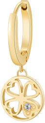 Pozlacená single náušnice pro štěstí Chakra BHKE002