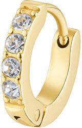Vergoldeter Single Ohrring mit Kristallen BHKE037