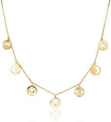 Pozlátený náhrdelník s kryštálmi Chant BAH02