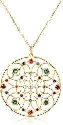 Pozlacený náhrdelník se zirkony Corinto BOI02