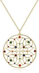 Pozlátený náhrdelník so zirkónmi Corinto BOI04
